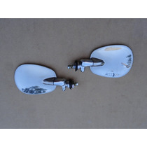 Retrovisor Fusca Novo Raquetinha Aço Inox Espelho Par