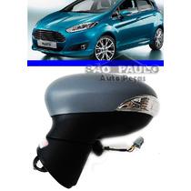 Retrovisor New Fiesta Hatch 2012 2013 Com Pisca Eletrico Le