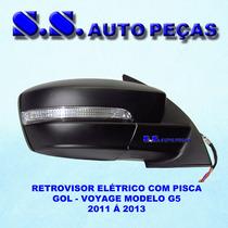 Retrovisor Gol G6 Espelho Gol Voyage G6 Original Com Pisca