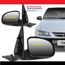 Retrovisor Celta Ano 2000 A 2006 2p 4p Com Controle Manual