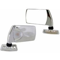2 Espelho Retrovisor Universal Vw Fiat Ford Gm Cromado