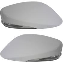 Capa De Retrovisor Com Pisca Em Led Para Hb20/hb20s Branco
