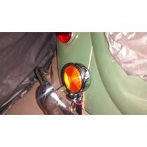 Lanterna Cromada Âmbar Fusca/hot-rod.