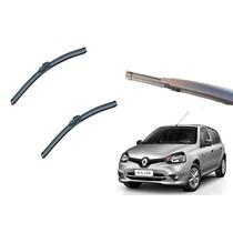 Kit Limpador Parabrisa Dianteiro+ Traseiro Renault Clio Tds