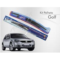 Kit Palheta Dianteira + Refil Traseira Golf 2007 A 2013