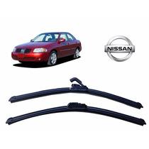 Par Palheta Limpador Parabrisa Dianteiro Nissan Sentra 05/06