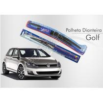 Kit Palheta Dianteira + Refil Traseira Golf 2014 2015
