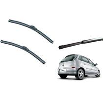 Kit Limpador Parabrisas Novo Corsa Hatch Dianteiros+traseiro