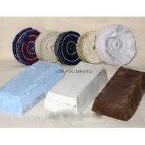 Kit Polimento Microretifica-inox,aluminio,latão,aço,semijoia