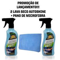 Kit Com 2 Lava Seco Autoshine + Pano De Microfibra