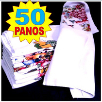 Kit 50 Panos De Prato Com Bainha De 1º Linha - Atacado
