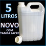 Galão 5 Litros Bombona 100% Polietileno C/ Tampa Lacre Novo