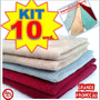 10 Panos Microfibra Flanela Lavagem Carro Seco * Anti-risco
