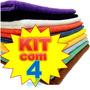 Kit Com 4 Panos De Microfibra Lavagem Carro A Seco * 40x30