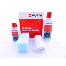 Kit Wurth Limpeza E Hidratação De Banco Couro Carro Moto