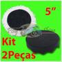 Kit Polimento - Boina De Lã E Espuma Com Velcro 5 Polegadas