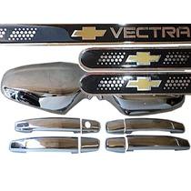 Kit Cromado Vectra 06/08 + Jg Soleiras Resinadas C/ Logo