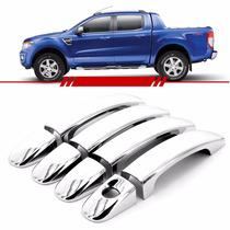 Kit Aplique Capa De Maçaneta Ford Nova Ranger 2013 2014 2015