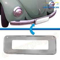 Moldura Suporte Placa Dianteira Fusca 1970 A 1996 Metal Nova