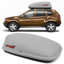 Bagageiro Maleiro De Teto Jetbag Com Chave 290 Litros Cinza