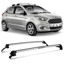 Rack Teto Eqmax Novo Ka 2015 2016 Travessa Wave Prata Ford