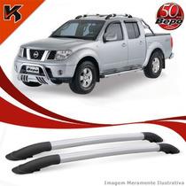 Longarina Teto Rack Elegance Bepo Nissan Frontier../14 Prata