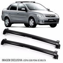 Rack De Teto Bagageiro Corsa 2002 A 2012 Eqmax 6107 Preto