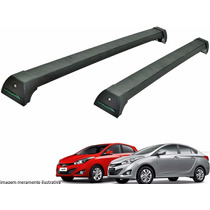 Rack Teto Hyundai Hb20 Hatch Sedan Long Life Preto