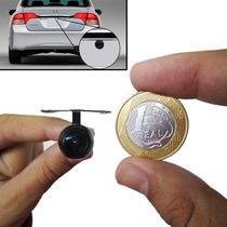 Micro Camera Borboleta De Re C/ Suporte P/ Lanterna Da Placa