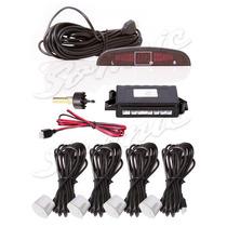 Sensor Estacionamento Ré Branco 4 Sensores Display Led Sonor