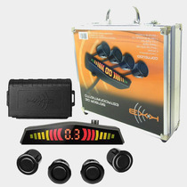 Sensor De Ré Preto Kx3 C/ Display De Led E Sonoro + Maleta
