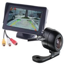 Camera De Ré + Tela Lcd 4.3 P/ Estacionamento Ou Tela De Dvd