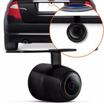 Camera Re Automotiva Colorida Parachoque Universal Preta