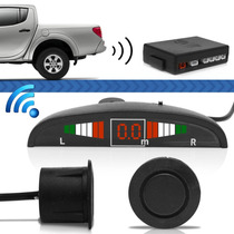 Sensor Automotivo Para Carro Ré Wireless Lcd Emborrachado
