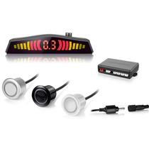 Sensor Estacionamento Ré 4 Sensores C/display Sonoro Branco