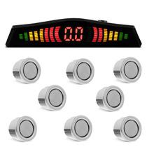 Sensor De Estacionamento 8 Pontos Cromado Ré Dianteiro