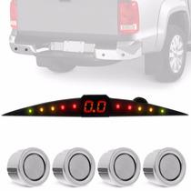 Sensor Estac. C/ Display 4 Pontos Parachoque Ferro Hilux