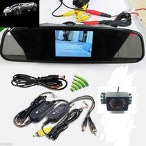 Kit Completo Câmera De Ré Com Retrovisor Lcd Wifi