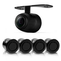 Kit Sensor De Estacionamento 4 Pontos + Câmera Ré + Buzzer