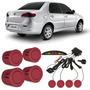 Sensor De Estacionamento Fiat Siena Vermelho Oppulence