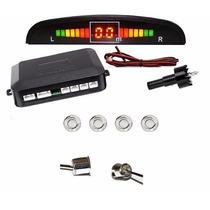 Sensor De Estacionamento Cromado Wireless 4 Pontos Lcd