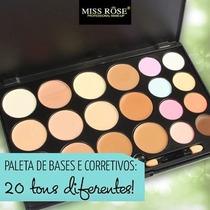 Paleta Com 12 Bases E 08 Corretivos - Miss Rôse