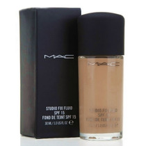 Base Mac Studio Fix Fluid Spf15 Com Aplicador Pump + Brinde