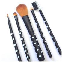Kit Maquiagem Luxo 5 Pinceis Pronta Entrega Make Up Fashion