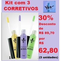 Corretivo Líquido Colorido Kit Com 3 Yes Cosmetics 30% Off