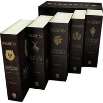 Box - As Crônicas De Gelo E Fogo 5 Livros + Game Of Trones
