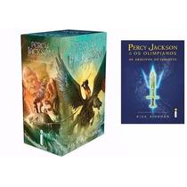 Box Percy Jackson E Os Olimpianos + Arquivos Semide 6 Livros