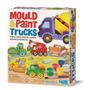 Molde E Pinte Caminhões - Kit Gesso E Pintura Para Imãs