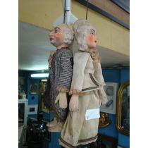 Antigas Marionetes - Casal De Idosos - Brinquedo Antigo