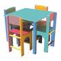 Mesa Com Cadeiras Em Madeira, Infantil, Didático, P/ Escolas